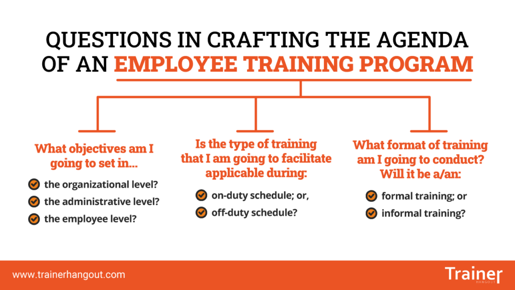 employee training program agenda