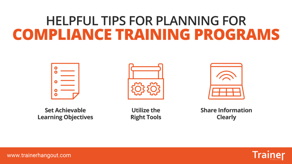 planning for compliance training programs