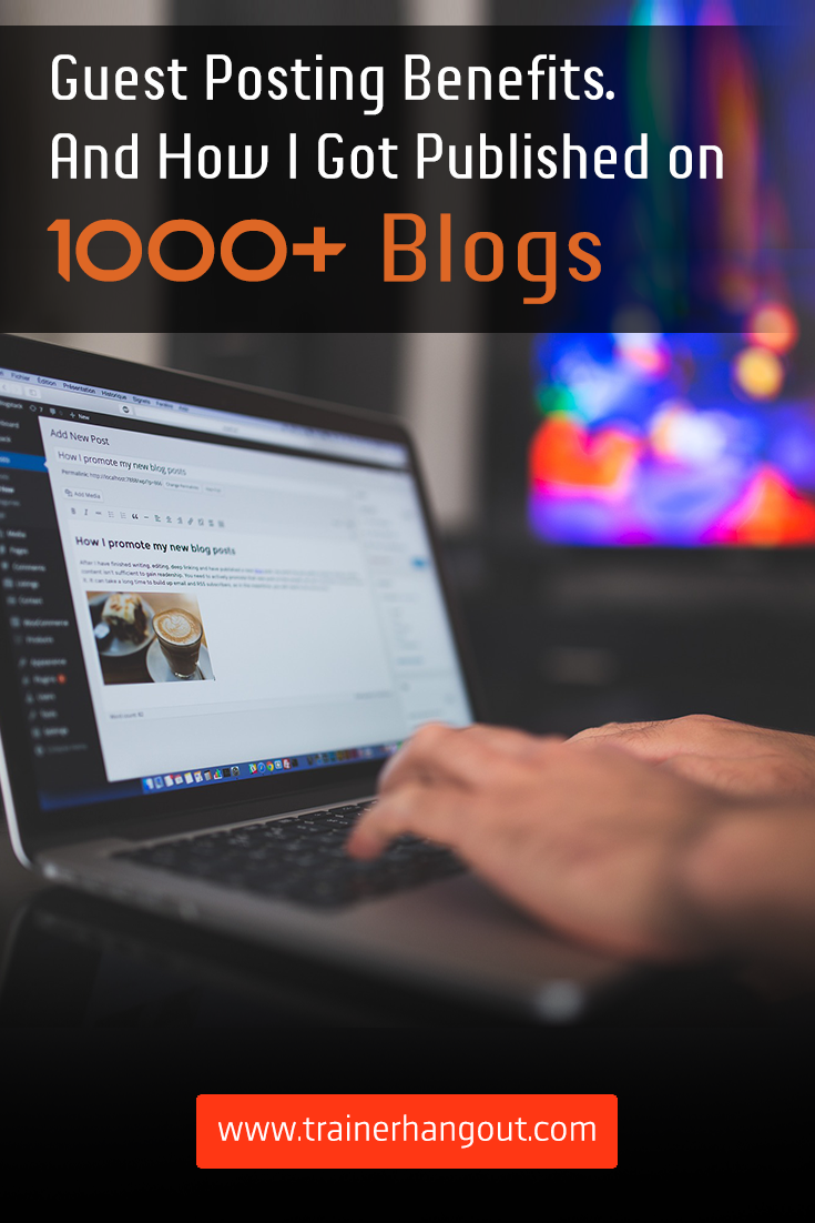 Ryan Biddulph has been featured on over 1000 blogs as a guest poster. In this article, he explains the benefits of guest posting and how he does it.