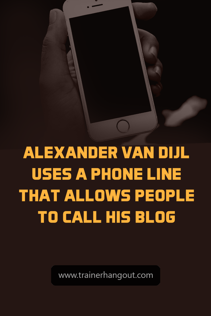 Alexander van Dijl is a traveling entrepreneur. He started his blog from a small student apartment and has grown from there.